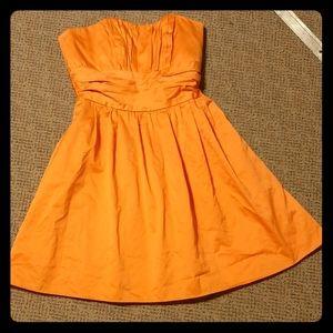 Orange homecoming or bridesmaid dress